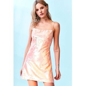 Urban Outfitters Kimchi Blue peach sequin dress
